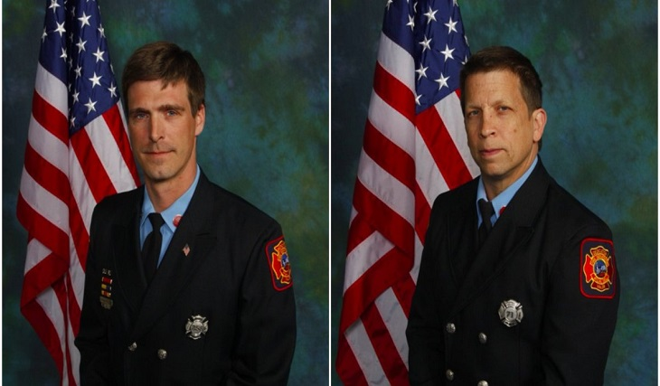 CAP. Christopher Leach and LT. Jerry Fickes